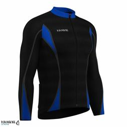 cycling long sleeve jersey thermal cold wear