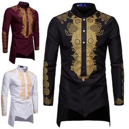 Dashiki <font><b>Shirt</b></font> <font><b>Men</b></font> Fa