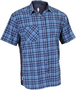 Club Ride Detour Men's Short Sleeve Shirt: Steel Blue LG