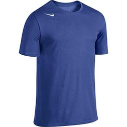 NIKE Men's Dri-FIT Cotton 2.0 Tee, Game Royal/Game Royal/Whi