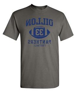 Dillon Football Retro Adult Dt Tee T-shirts M-3XL US Men's C