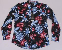Drill Clothing Co. Men S/S Floral Print Hawaiian Button Up S