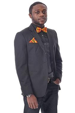 Dupsie's Kente African Print Bow Tie for Men Small Multicolo