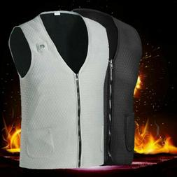 Electric Heated Vest Jacket USB Warm Up Heating Pad Body War