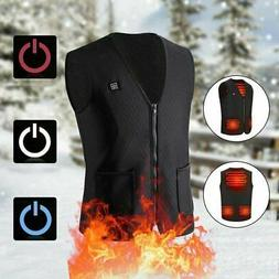Electric USB Heated Vest Jacket Coat Warm Up Heat Pad Cloth