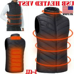 Electric USB Heated Vest Jacket Coat Warm Up Heating Pad Clo