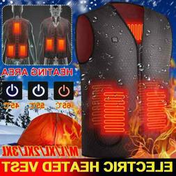 Electric Vest Heated USB Jacket Warm Up Heating Pad Body War