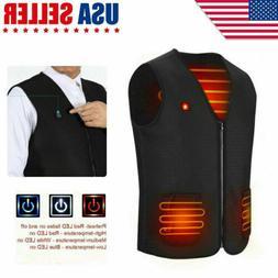 Electric USB Winter Heated Body Warm Vest Men Women Heating