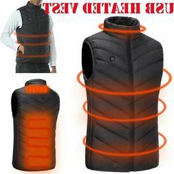 Electric USB Winter Heated Warm Up Vest Men Women Heating Co