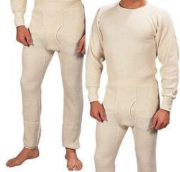 Extra Heavyweight Thermal Knit White Underwear - Long John W