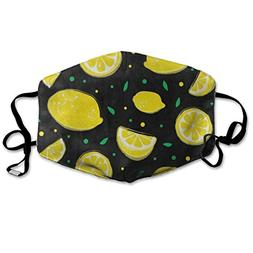 Face Mask Yellow Fruit Lemon Polka Dot Inspiring Cycling Hal