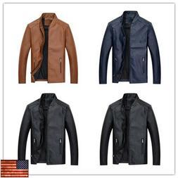 Fashion Leather Jacket Autumn Handsome Coat Slim Youth Cloth