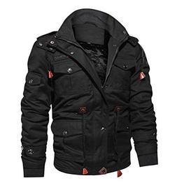 CRYSULLY Mens Fatigue Jacket Outdoor Sportswear Windbreaker