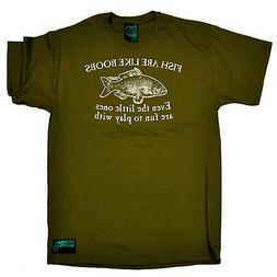 Fishing T-Shirt Funny Novelty Mens tee TShirt - Fish Are Lik