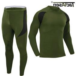 fleece lined thermal underwear long johns set