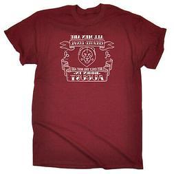 Funny Novelty T-Shirt Mens tee TShirt - Men August Leo