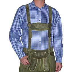 german blue lederhosen longsleeve shortsleeve shirt large