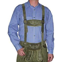 Dirndl Trachten Haus German Blue Lederhosen Longsleeve/Short