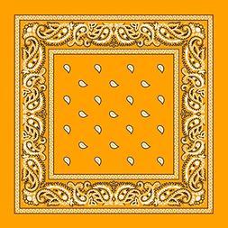 Gold Paisley Bandana - 3pcs