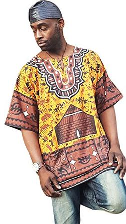 Gye Nyame Traditional African Print Dashiki Shirt