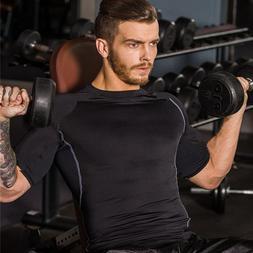Gyms Tshirt <font><b>Men</b></font> Fitness Tee Shirt Compre