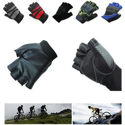 Half Finger Cycling Gloves Bike Bicycle Riding Exercise Trai