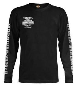 Harley-Davidson Men's Skull Lightning Crest Graphic Long Sle