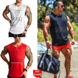 hot gym men bodybuilding vest tank top