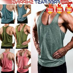 Hot Gym Men Vest Bodybuilding Tank Top Muscle Clothing Strin