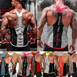 HOT!Men's Bodybuilding Stronger Tank Top Y-Back Racerback Gy