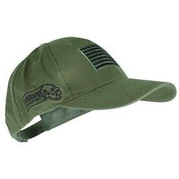 Voodoo Tactical Hunting Cap with US Flag Fully Adjustable OD