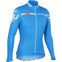 Castelli Imola Men's Long Sleeve Cycling Jersey Blue Size L