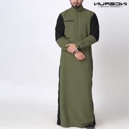 INCERUN Muslim <font><b>Men</b></font> Kaftan Long Sleeve St