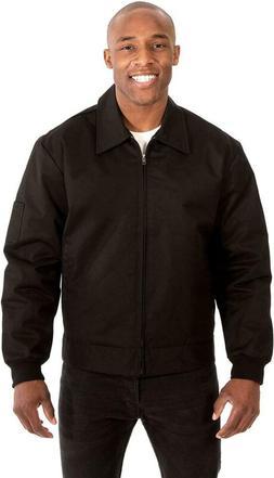 J.H. Design Mens Mechanics Jacket In Black A Zip Up Quilted
