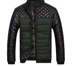 Jackets and Coats Patchwork Outer Wear Winter Fashion Male C