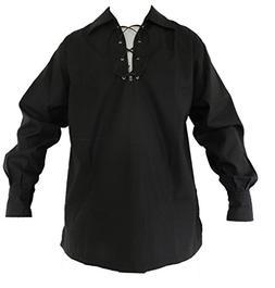 UT Kilts Jacobite Ghillie Shirt Black 3X-Large