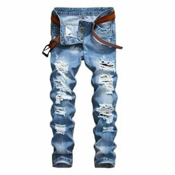 just no logo men s ripped destroyed