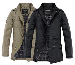 K1031 Men's Jacket Coat Slim Clothes Winter Warm Overcoat Ca