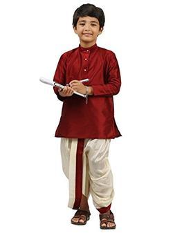 Kids-Boys-Kurta-Dhoti-Set-Indian-Ethnic-Cultural-Fancy-Party