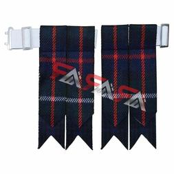 Brand New Mackenzie Tartan Kilt Flashes with Heavy Buckle
