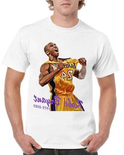 Kobe Bryant Shirts Basketball Black Mamba Men's T-Shirt Size