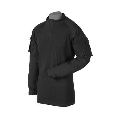 Voodoo Tactical 01-9582 Combat Shirt with Zipper, Black, Med