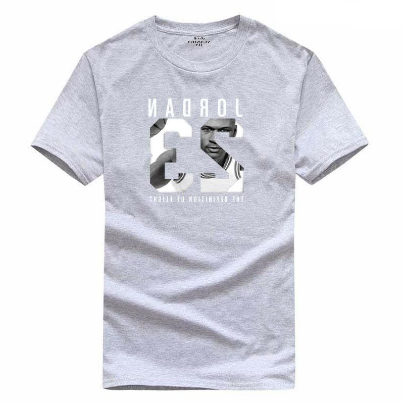 100% Cotton Men 23 Print tshirt Clothing Men Sports Swag