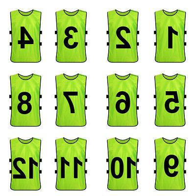 12x Lot TopTie Numbered Vest Soccer