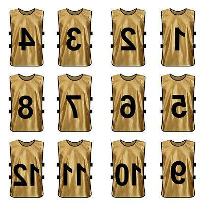 12x Numbered Soccer Pinnies