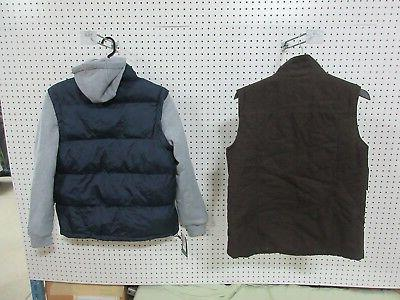 2 MENS FALL WINTER BROWN BLUE CLOTHES BULK NEW