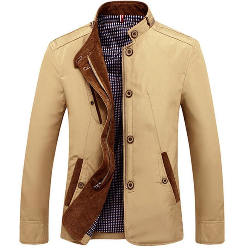 2019 <font><b>Men's</b></font> Slim Vintage <font><b>Mens</b></font> Autumn Outwear