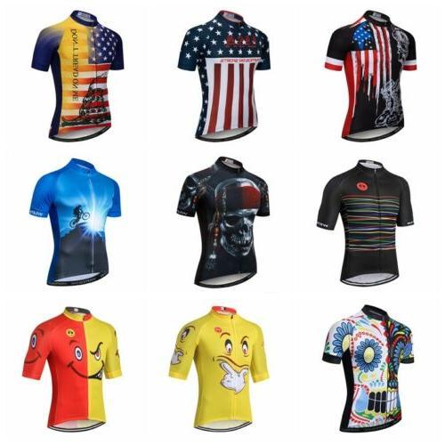 2019 skull cycling jersey men shirt short