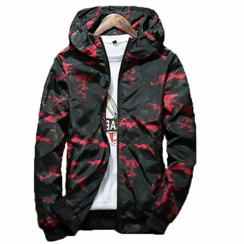 2019 Spring Autumn Mens Casual Camouflage Jacket