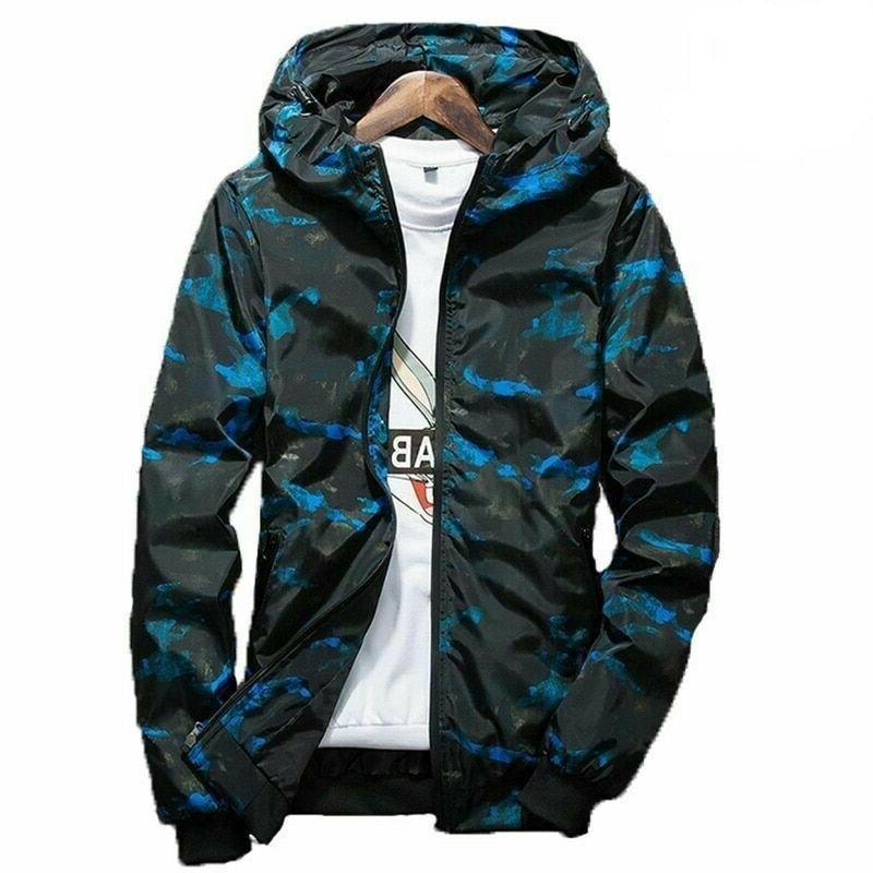 2019 spring autumn mens camouflage hoodie jacket